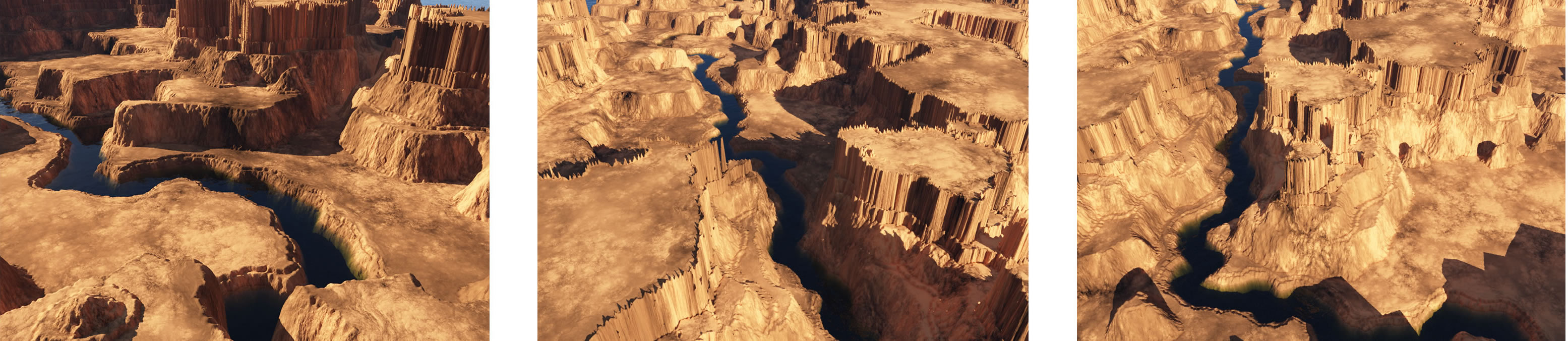 Procedural Generation of 3D Canyons